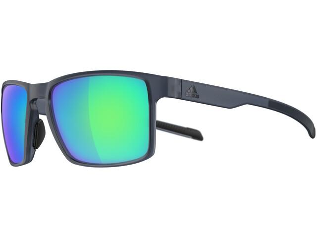 adidas Wayfinder Glasses raw steel matt/blue mirror
